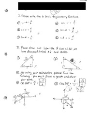 Basic Trig Functions Review