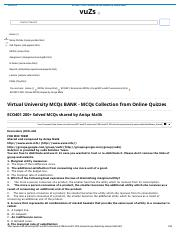 ECO401 200+ Solved MCQs shared by Aniqa Malik.pdf