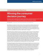 Winning the consumer decision journey