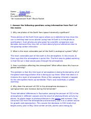 """An Inconvenient Truth"" Movie Packet Questions/Answers - Krupa Patel.docx"