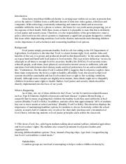 Food justice paper
