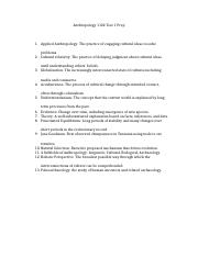 """intro to anthropology exam 1 essay Introduction to cultural anthropology -- potential questions -- exam 1 1 list and define the three goals of this course 2 what does the word """"anthropology"""" mean."""