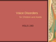 5Voice Disorders