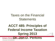 03_Taxes on the Financial Statements