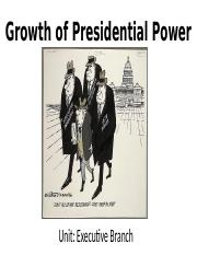 Growth of Presidential Power.pptx