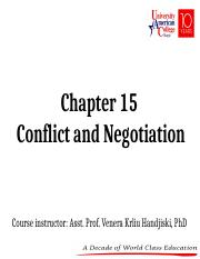 Chapter 15 - Conflict and Negotiation