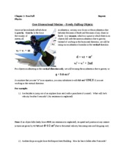 free fall notes