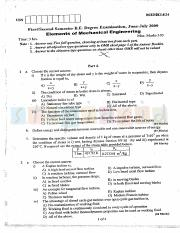 (www.entrance-exam.net)-VTU, Bangalore 1st Semester Physics Cycle- Elements of Mechanical Engineerin