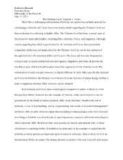 Final Paper-The Ultimate Good