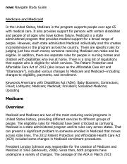 Medicare and Medicaid Research Paper Starter - eNotes