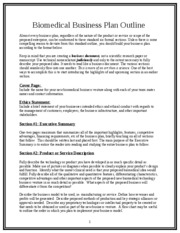 Biomedical Business Plan Outline 5.31.06