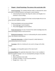 APSY270 Chapter 1 Review Sheet