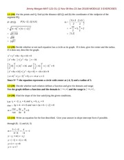 MODULE 3 EXERCISES-MATH 121