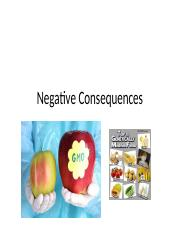 Negative Consequences of GMF