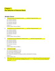 Chapter 5 The Behavior of Interest Rates .docx