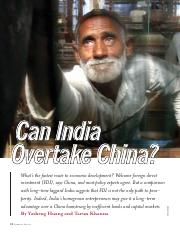 Can India Overtake China