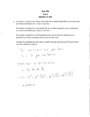 S479 F10 Test 1 Solutions