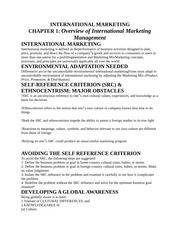 OVERVIEW OF INTERNATIONAL MARKETING