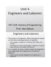 Unit 4 Lecture 4 Engineers and Laborers.docx