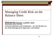 SC3-Chapter 20 - Managing Credit Risk on the Balance Sheet 1
