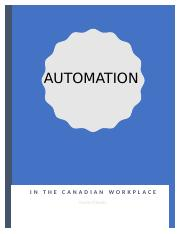 Automation in the Canadian Workplace.docx