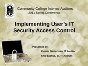 Implementing Security Access Control Handout