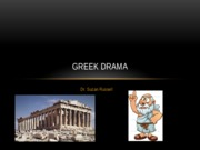 Cultural Foundations Greek Theater Notes