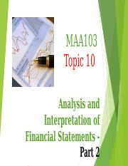 Topic 10 - Lecture Notes Analysis and Interpretation Part 2 (on Portal).ppt