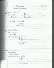 Integration Method of Substitution