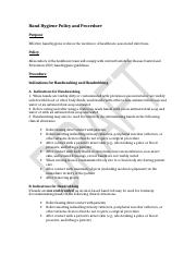 Hand Hygiene Policy and Procedure Template.doc