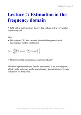 Frequency Domain Notes