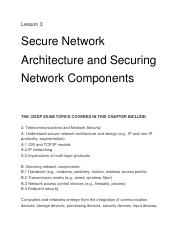 Secure Network Architecture and Securing Network Components