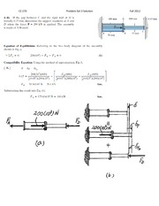 Problem Set 3 Solutions Fall 2012 on Structural Mechanics