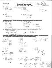 Printables Algebra 2 Review Worksheet 5 1 worksheet answer key pages chapter 6 test review key