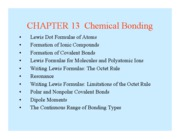 CH 301 - Chapter 13-14 part 1 Lecture Notes