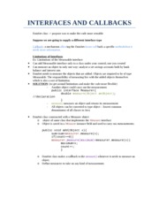 INTERFACES AND CALLBACKS CSCI 180