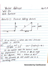 vector addition of forces experiment lab 20 experiment 3: vector addition procedure part 1: tail-to-head method 1 your ta will provide you with a set of three force vectors, record them in the table to the right let 100 n = 200 cm on graph paper 2 using a ruler and a protractor, draw the three vec-tors on the graph paper provided, starting each one from the origin.