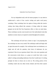 Independent Study Project Proposal