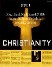 TOPIC 5-Christianity - sem1 20152016