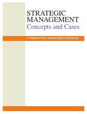 CONCEPTS AND COMPETITIVE AND CASES MANAGEMENT ADVANTAGE STRATEGIC