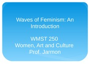 Waves of Feminism Lecture