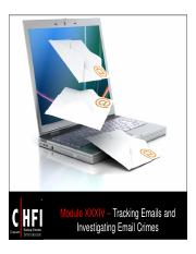 CHFI v4 Module 34 Tracking Emails and Investigating Emai