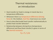 EN.530.334 thermal resistance notes
