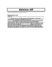 Ableism aff - LW Peninsula