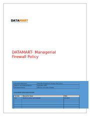 Firewall policy DataMart.docx