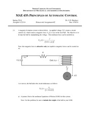 Homework B on Principles of Automatic Control