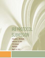 IRB Protocol Submission