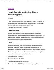 Hotel Sample Marketing Plan - Marketing Mix.pdf
