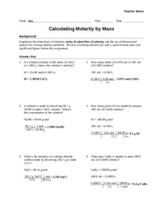 worksheet molarity by dilution teacher m 1 v 1 m 2 v 2 m 1 v 1 m 2 v 2 v 2 35 9m 15. Black Bedroom Furniture Sets. Home Design Ideas