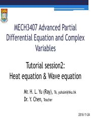 PDEs tutorial materials - MECH3407 Advanced Partial Differential